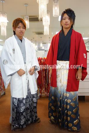 成人式男紋付袴レンタル
