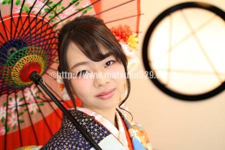成人式前撮り振袖Maho3