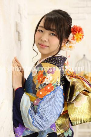 成人式前撮り振袖Maho1