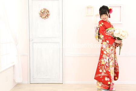成人式前撮り振袖Natsumi3