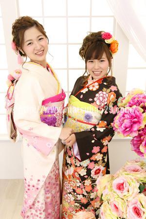 成人式前撮り振袖Miyu&Rui